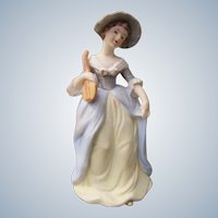 Perfume Lamp by Irice Japan with Hand Painted Colonial Girl
