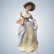 Price Perfume Lamp with Hand Painted Colonial Girl Japan