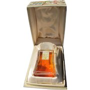 Coty Perfume Bottle in Satin Lined Box 1946 EX Condition Muse de Coty