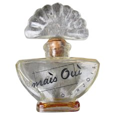 Bourjois Perfume Bottle 1937 Mais Out Small Size with Cork Stopper