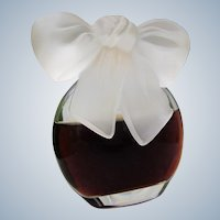Rare Perfume Bottle with Frosted Glass Bow 1980s Rare 1 OZ Albert Nipon