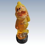 Novelty Perfume Bottle Figural Bottle One of the Seven Dwarfs Perfume Sealed