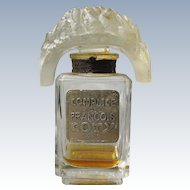 Coty Perfume Bottle with Tiara Stopper Complice de Francois of Paris France