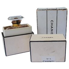 Vintage Chanel Perfume Bottle Chanel No. 5 Inner and Outer Boxes 1930's