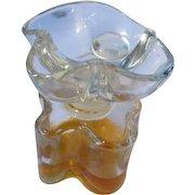 Vintage Perfume Bottle Oscar de la Rente 1977 All Glass Large Flower Stopper