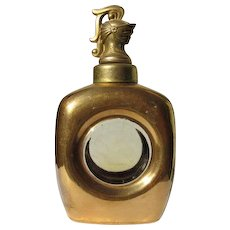 Vintage Cologne Bottle Kingsmen for Men 23K Gold Painted Bottle Knights Head