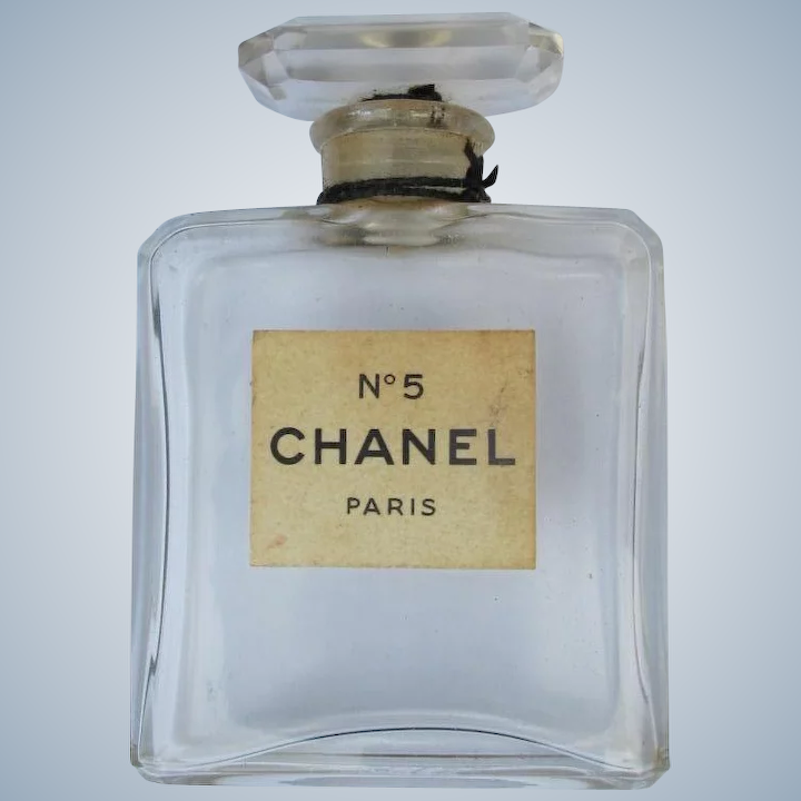 9a64db6f Vintage Chanel No. 5 Perfume Bottle Early All Glass with Label Paris France