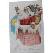 Santa Claus Post Card Kris Kringle Art by Ellen Clapsaddle Tuck Publisher