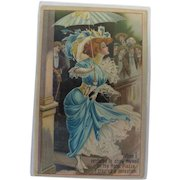 Dwig Post Card of Wife in Excellent Used Condition 1913