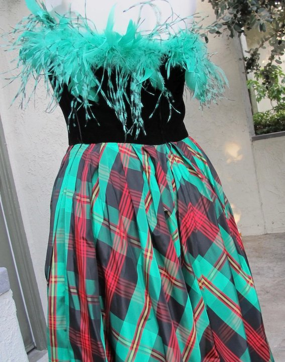 Neiman Marcus Dress Gown of Taffeta Plaid Never Worn Size 8 : Time ...