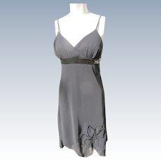 Black Dress Tango Style with Chiffon and Sequins Spaghetti Straps Medium