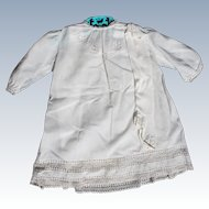 Christening Dress for Baby Vintage 1940's 3 Piece Skirt Silk Socks Hand Work