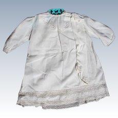 Christening Dress for Baby Vintage 1940's 3 Piece Skirt Silk Socks Hand Work