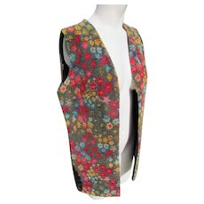 Neiman Marcus Vest Tapestry Fabric Vintage 1960's 70's JFK Provenance