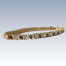 Tennis Bracelet Sapphire Diamonds Costume Faux Never Worn 1980's