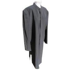 Long Black Coat Excellent Condition JFK Provenance Size 14