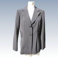 Liz Claiborne Pant Suit Jacket and Pants 1980's Black Size 10