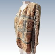 Cardigan Sweater Heavy Cotton Knitted with JFK Provenance