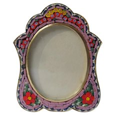 Micro Mosaic Frame Small with Flowers Italy