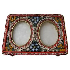 Micro Mosaic Frame Made in Italy Double Picture Frame