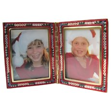 Micro Mosaic Frame Made in Italy for Two Pictures