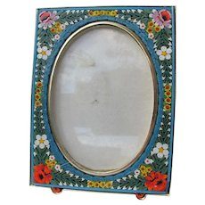 Micro Mosaic Picture Frame from Italy Perfect