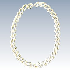 Gold Chain Necklace Monet 1980s