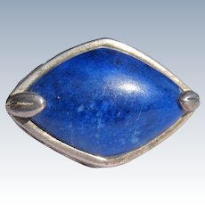 Sterling Silver Ring with Lapis Lazuli Stone Vintage
