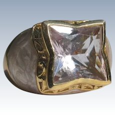 Sterling Silver Ring with Gold Overlay