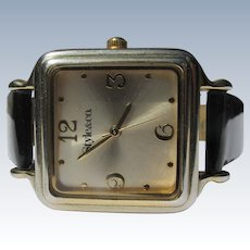 Ladies Watch Black Patton Leather Band Style&Co