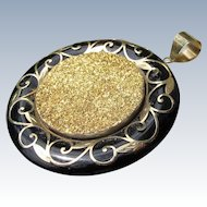 14 K Gold Pendant with Druzy Stone in Gold