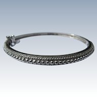 Bracelet of Sterling Silver Bangle Style for Ladies