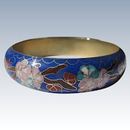 Enamel Bangle Bracelet Vintage Excellent Condition