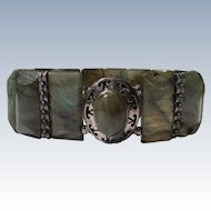 Stone Bracelet with Sterling Silver Decorations