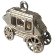 Sterling Silver Charm Stage Coach 925