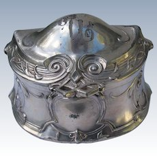 Art Nouveau Jewelry Box WB Silverplate