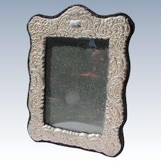 Vintage Picture Frame Silver Metal