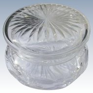 Cut Crystal Glass Bowl for Powder or Jewelry Perfect