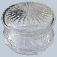 Cut Crystal Glass Powder Bowl for Powder or Jewelry Jar