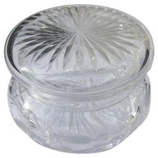 Cut Crystal Glass Powder Bowl for Powder or Jewelry Jar