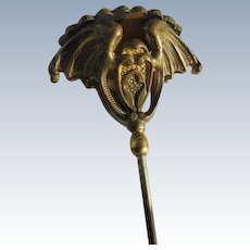 Victorian Hat Pin Seed Pearls and Initials with Bats