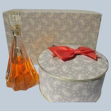 D'Orsay Perfume and Powder Set 1940's Lucite Top in Box