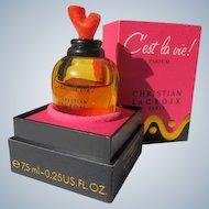 Boxed French Perfume Bottle Cost La Vie Parfum by Christian Lacroix