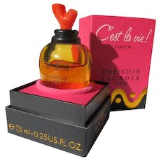 Boxed French Perfume Bottle Cost La Vie Parfum by Christian Lacroix