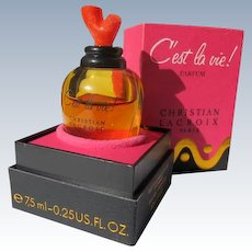 Boxed Perfume Bottle Cost La Vie Parfum by Christian Lacroix Paris, France