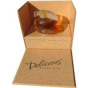 Boxed Perfume Bottle Commercial Beverly Hills Delicious Parfum 1 OZ All Glass 1993