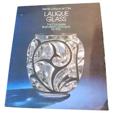 Lalique Glass Book Reprint of 1932 Lalique Catalog Works Printed in 1981