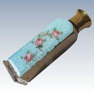 1930's Enamel Perfume Bottle for the Purse