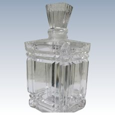 Coty Perfume  Bottle Baccarat Crystal Numbered 1948 Le Vertige Marked
