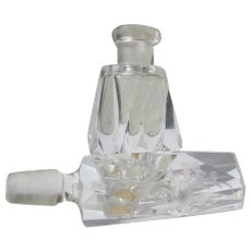 Perfume Bottle Etched Stopper Germany